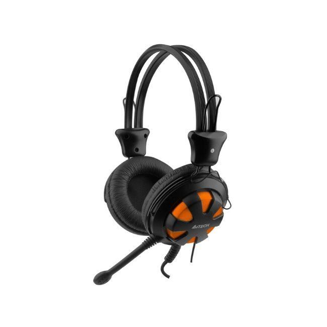 A4TECH Headset HS-28, 3.5mm, 40mm ακουστικά, πορτοκαλί - Praxi Ltd - ΠΡΑΞΗ ΕΠΕ