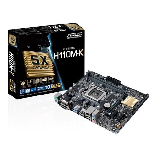 ASUS MOTHERBOARD H110M-K, S1151, DDR4, MATX - Πραξη ΕΠΕ - Praxi ltd