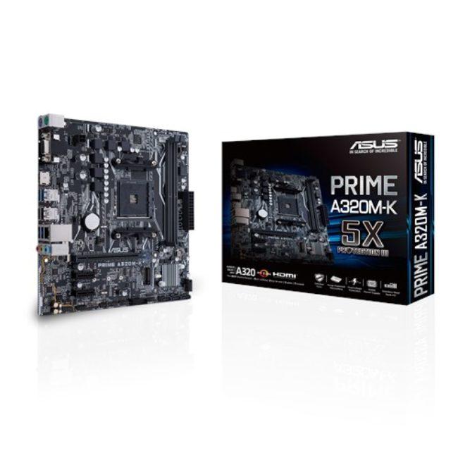 ASUS Motherboard PRIME A320M-K, AM4, DDR4, MATX - praxi ltd