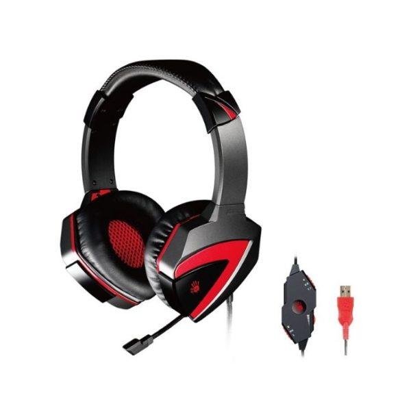 BLOODY Gaming Headset BLD-G501, 7.1CH, 40mm, USB, 100dB, μαύρα - Praxi Ltd - ΠΡΑΞΗ ΕΠΕ