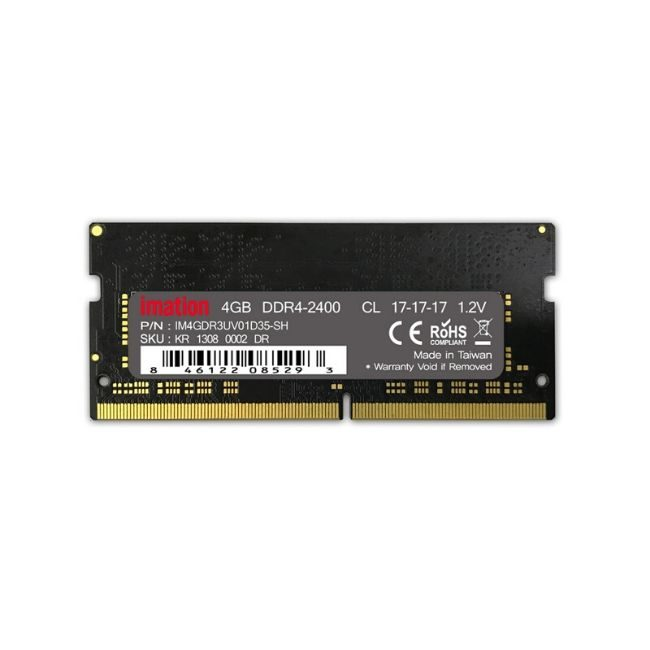 IMATION Μνήμη DDR4 SODIMM KR13080002DR, 4GB, 2400MHz, PC4-19200, CL17 - Πραξη ΕΠΕ - Praxi Ltd