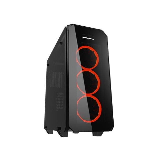 Product Image - CC-COUGAR Case PURITAS Middle ATX BLACK Tempered Glass USB 3.0 - Praxi Ltd - Πραξη ΕΠΕ